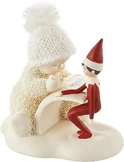 """Department 56 Snowbabies """"Elf On The Shelf Makes A List"""" Porcelain, 3.2"""" Figurine, Multicolor"""