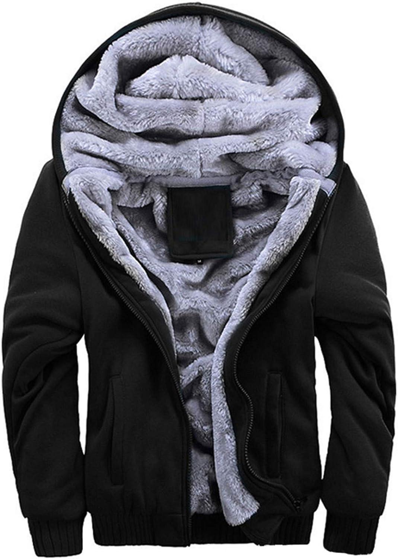 NEW Hot Hoodies Thick Plus Velvet Hoodies Jacket Parkas Casual Solid Streetwear Mens black 1 4XL