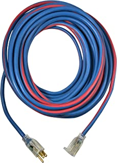 US Wire and Cable 98050 14/3 50ft Extreme All Weather Extension Cord, Blue/Red
