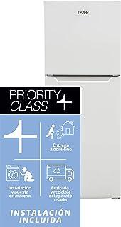 Sauber - Frigorífico Dos Puertas SF143B Tecnología NOFROST - Eficiencia energética: A+ - 143x55cm - Color Blanco