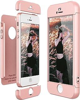 3a2c231838f CE-Link Funda para Apple iPhone 5 5S Se Rigida 360 Grados Integral, Carcasa