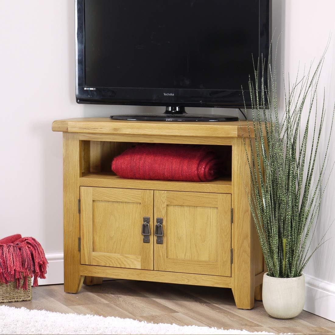 Arklow - Mueble esquinero para TV, de roble: Amazon.es: Hogar