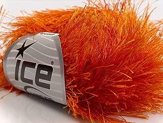 Orange Extra Long Eyelash Yarn Ice Luxurious Fun Fur 50gr 38yds 13269