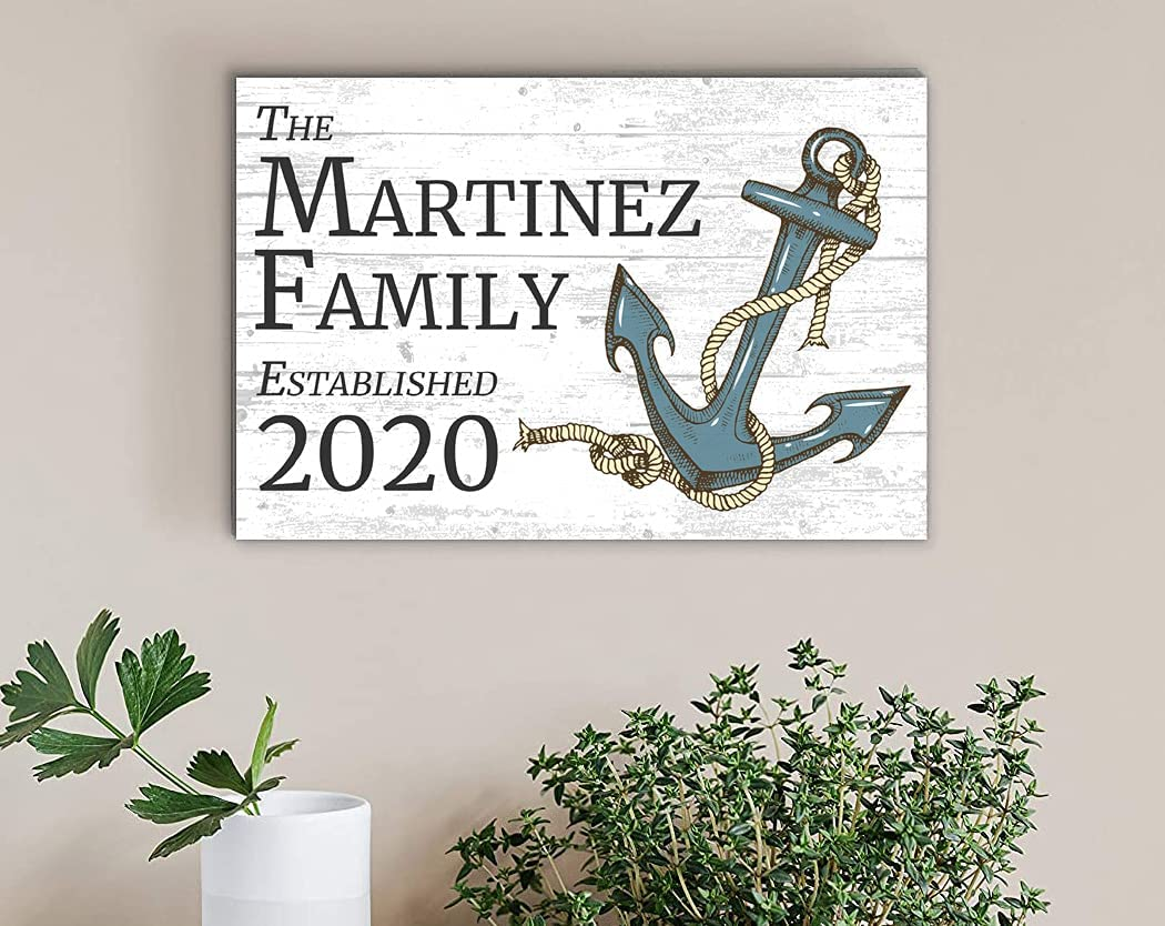 Broad Bay Limited price Beach House Family Nauti Name Sale item Sign Anchor Personalized