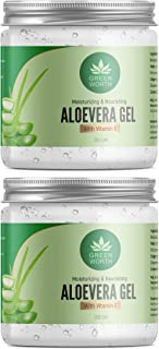 GREENWORTH PURE ALOE VERA GEL 400 GM (Pack of 2 X 200 GM)