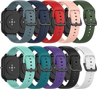 comprar comparacion Ruentech - Correa de Silicona Compatible con Amazfit GTS/Amazfit Bip/Amazfit GTR 42mm Correa Band (Small, 10 Colores)