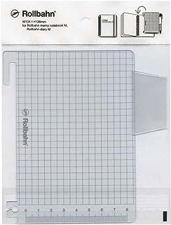 ロルバーン ポケット付メモ/ダイアリー Mサイズ用 下敷き【シルバー】 500433 704