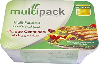 Multipack Disposable Food Storage Containers, 5 Pieces (1000ml)