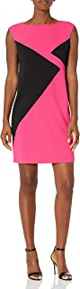 Women's Sleeveless Color Block Dress