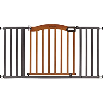 """Summer Decorative Wood & Metal Safety Baby Gate, New Zealand Pine Wood and a Slate Metal Finish – 32"""" Tall, Fits Openings up to 36"""" to 60"""" Wide, Baby and Pet Gate for Doorways"""