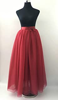 Cuts & Fits 7 Layers Tulle Skirts - Maxi Length