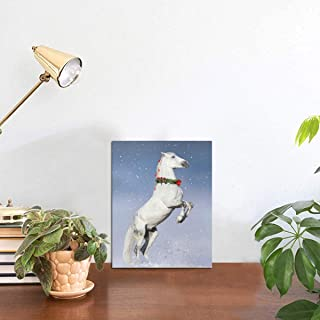 Yagqiny Run Rearing Forward Race Horse Cute Picture Display Bath Decor Picture Home Decor Tabletop Frames Photo 8x6 Inch Photo Display Panel Picture Display Board Tabletop
