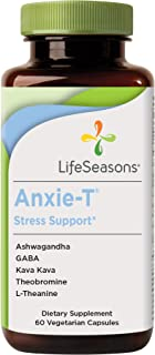 LifeSeasons - Anxie-T - Anti Anxiety Support Supplement to Combat Stress - Calm and Stress Supplement - Feel More Relaxed - Contains Kava Kava, GABA, L-Theanine - 60 Capsules