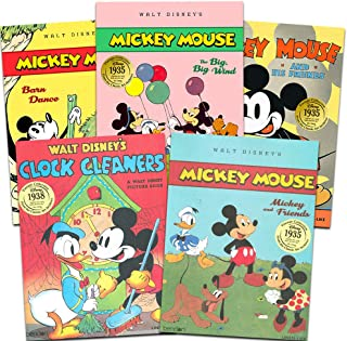 Disney Classic Mickey Mouse Books ~ Set of 5 Linen Books (Disney Vintage Collection)