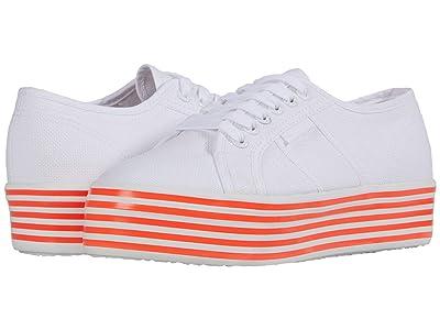 Superga 2790 Multicolor Cotw (White/Coral) Women