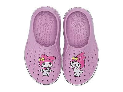 Native Kids Shoes Miles Print (Toddler/Little Kid) (Lavender Purple/Shell White/Mymel) Girls Shoes