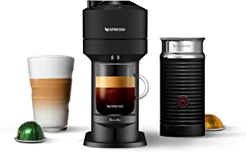 Nespresso Vertuo Next Coffee and Espresso Machine with Aeroccino NEW by Breville, Black Matte, Single Serve Coffee & Espre...