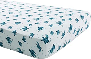 Bebe au Lait Oh So Soft Muslin Crib Sheet, Sea Turtle