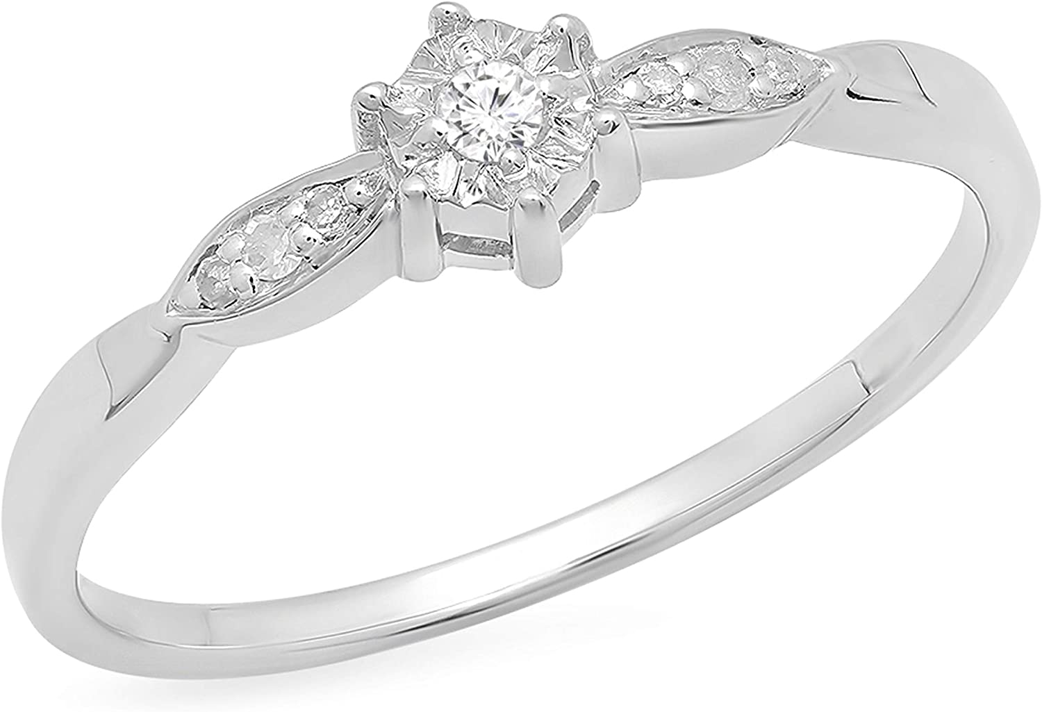 Dazzlingrock Collection 0.05 Carat ctw Limited 35% OFF time trial price Round White Diamond Lad
