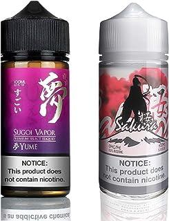 Sugoi vapor Sakura 桜/夢 yume 電子タバコ リキッド vape 人気セット 100ml × 2本 合計 200ml