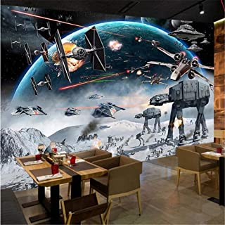 Mural Fotomural Papel Pintado Foto Personalizado Papel De Pared Estéreo 3D Cartoon Shock Star Wars Mural Habitación Para Niños Café Ktv Fondo De Pantalla Para Paredes 3 D Papel Tapiz, 350 * 245Cm