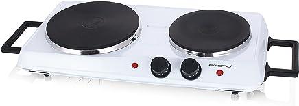 Emerio 双灶电磁炉,独立恒温调节器,控制灯,握柄 白色 HP-114482