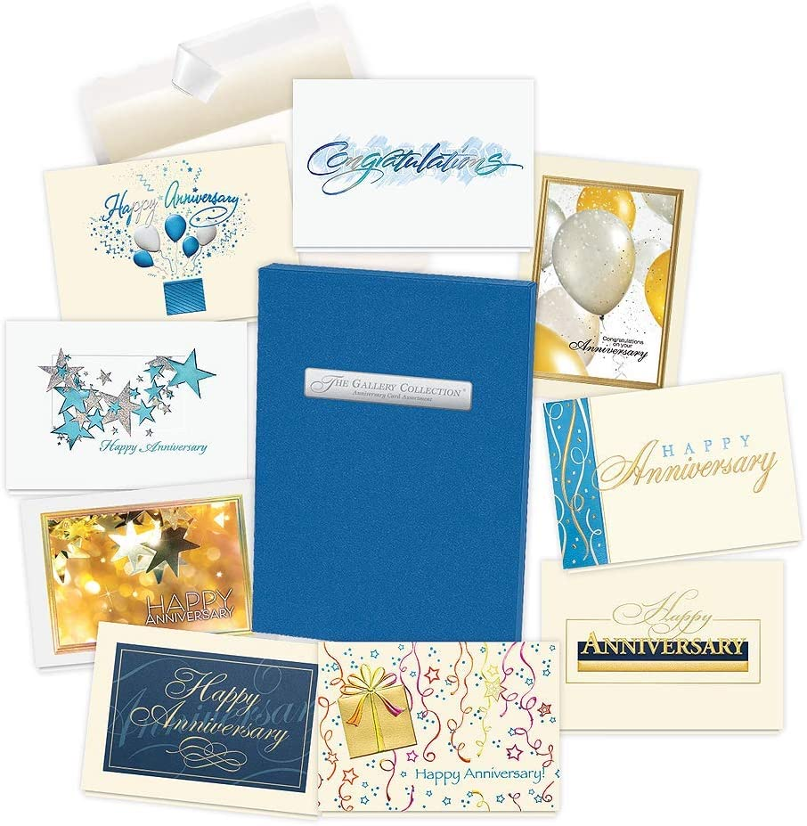 Anniversary Cards Assortment Box 35 Ranking Las Vegas Mall TOP10 Greeting - with Foil