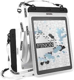 FINON【10.5-13インチ対応 WATERPOF CASE/防水ケース】大型タブレット対応防水ケース・専用ピック・ネックストラップ【Fire HD10/iPad Pro 10.5/12.9/Xperia Z/Z2/Z4 Tablet/Su...