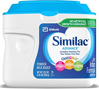 Similac Advance Infant Formula with Iron, Powder, 1.45 lb (Pack of 6)