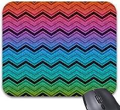 Rainbow Zigzag Mouse Pad 9.82 x 7.84