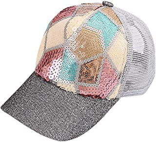 MKJNBH Sequins Reticular Sun Shade Net Outdoor Floral Hat Summer Cotton Baseball Cap Kids