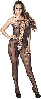 Gopalvilla Women's Polyamide Elastane Full Body Stockings (Black, Free Size)