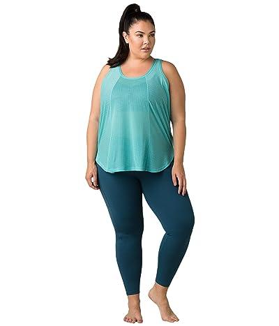 Prana Plus Size Justine Tank Top (Azurite) Women