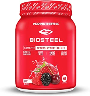 Sponsored Ad - BioSteel Hydration Mix - Sugar Free, Essential Electrolyte Sports Drink Powder - Mixed Berry - 100 Servings