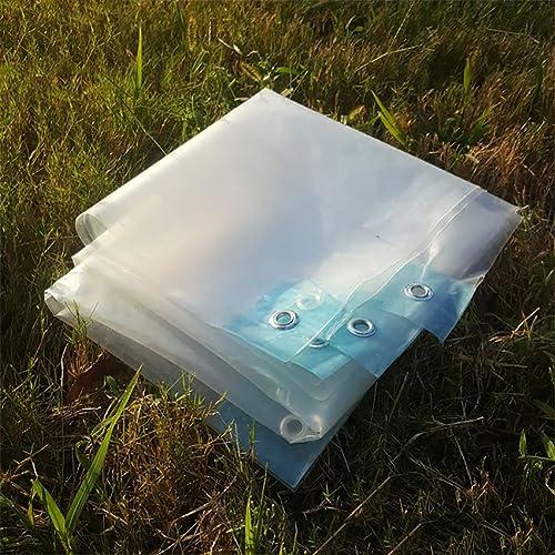 SAN_F La bache claire imperméable à l'eau résistante imperméable de feuille de sol couvre le tissu versé par abri antipluie de petite bache couvrant la couverture avec l'oeillet (Taille   4  8m)