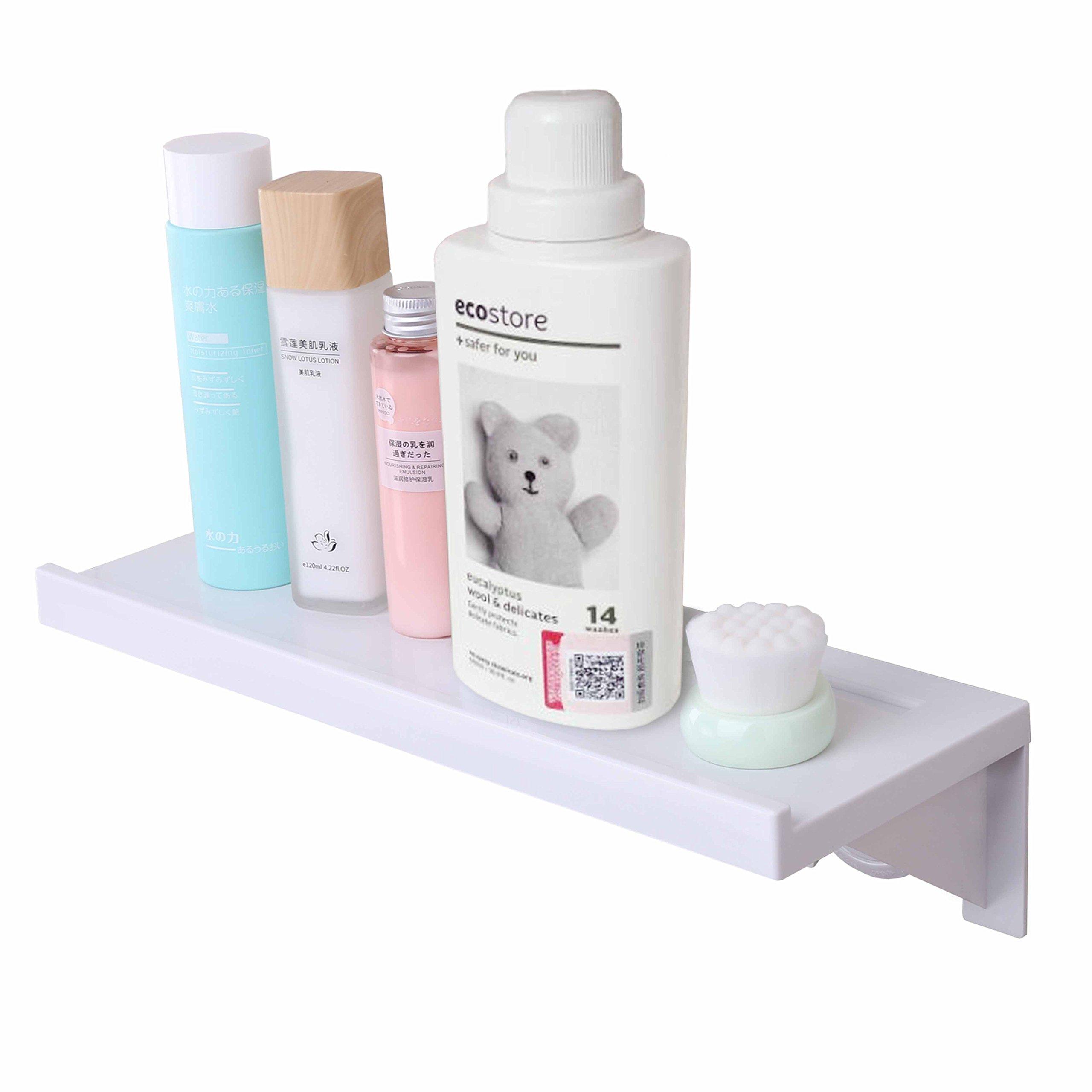 Wall Shelf with Stick on Adhesive 3 Adoraland Bathroom Organiser Shower Caddy