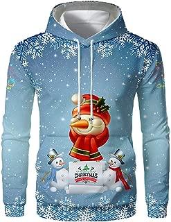 Men 3D Hoodie Christmas Sweatshirt Pullover Long Sleeve Jumper Sweater Coat
