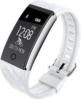 Net Net – Awei H1 Smartwatch Bluetooth Reloj Impermeable Fitness Tracker Hombre Mujer con pulsómetro de muñeca podómetro calorías GPS Smart Band Sport Activity Tracker Android OS Blanco