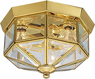 Progress Lighting P5788-10 Traditional Three Light Close-to-Ceiling from Beveled Glass Collection Cast Finish, 9-Inch Diameter x 7-Inch Height, Polished Brass