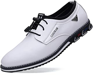 COSIDRAM Mens Casual Leather Shoes Business Slip-on Shoes Comfort Fashion Office Shoes for Male