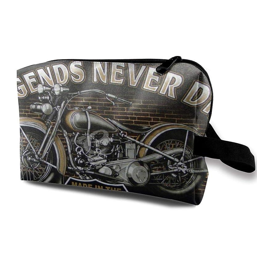 販売計画考案するしっとりRetro Style Motorcycle 収納ポーチ 化粧ポーチ 大容量 軽量 耐久性 ハンドル付持ち運び便利。入れ 自宅?出張?旅行?アウトドア撮影などに対応。メンズ レディース トラベルグッズ