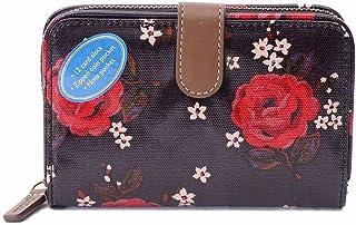 [キャスキッドソン] 財布 二つ折り Cath Kidston FOLDED ZIP WALLET 786706 BLACK Little Jacquard Rose [並行輸入品]
