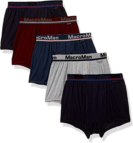 Rupa Frontline Men s Solid Trunks Pack of 5 Colors Print May Vary