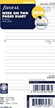 Filofax 2020 Personal/Compact Week to View Lined Refill, Jan 2020- Dec 2020, 6.75 x 3.75 inches (C68418-20)