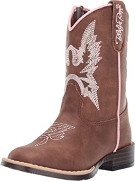 fb463c3e100 Old West Kids Boots Broad Square Toe (Toddler) | Zappos.com