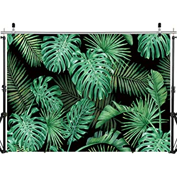 YEELE 15x10ft Abstract Green Plant Leaf Photography Backdrop Safari Theme Leaves of Spathiphyllum Background Summer Party Birthday Table Decor VBS Decoration Photobooth Props Digital Wallpaper