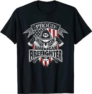 Patriotic Firefighter T-Shirt American Flag