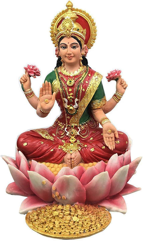 Pacific Trading Award Lakshmi outlet Hindu Goddess Sculpture Lotus on Statue