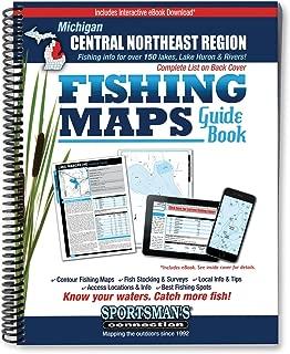 Central Northeast Michigan Fishing Map Guide (Fishing Maps Guide Book)