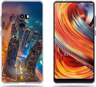 DIKAS Funda para Xiaomi Mi Mix 2 Mix2/EVO, Transparete Suave TPU Silicona Gel [Ultra Fina] [Protección a Bordes y Cámara] [Facilidad de Acceso a Botones] para Xiaomi Mi Mix 2 Mix2/EVO (5.99